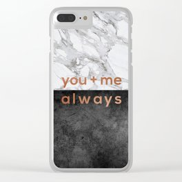 You + Me Always, Couples Quote Clear iPhone Case