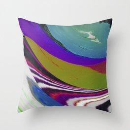 Twirl n Glitch Throw Pillow