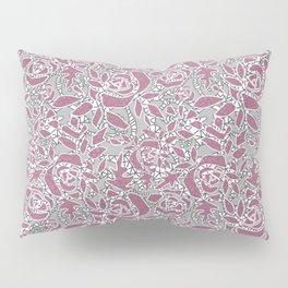 Gray pink lace Pillow Sham