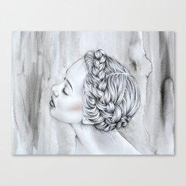 Braided Lady Canvas Print