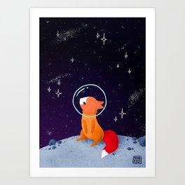 Where to next, little Fox? Art Print
