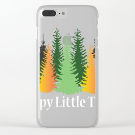 Funny Gift product For Tree Lovers Eco Fans Tree Tops Clear iPhone Case