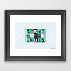 Blue Triangulation Framed Art Print