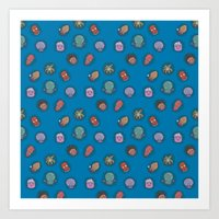 zoidberg Art Prints featuring A Tangle of Tentacles by Ma. Luisa Gonzaga