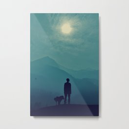 A Boy with a Dog! Metal Print
