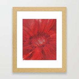 Digital Red Flower Painting Framed Art Print