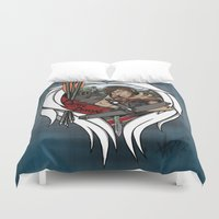 daryl Duvet Covers featuring The Daryl Dixon by Vadsana