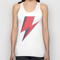 lightning Tank Tops featuring Lightning by Stag Nacht
