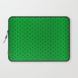 Neon Green and Black Tiny Dots Laptop Sleeve