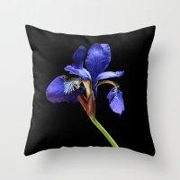 iris Throw Pillows featuring Iris by Artemio Studio