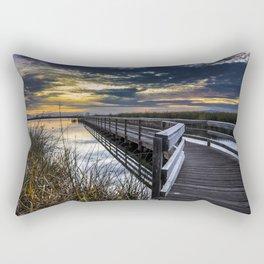 Farmington Bay Sunset - Great Salt Lake Rectangular Pillow