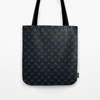 abyss Tote Bags featuring abyss by westchestrian_art