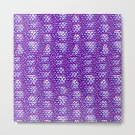Purple Mermaid Scales Pattern Metal Print