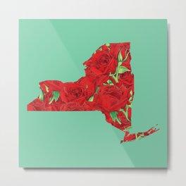New York in Flowers Metal Print