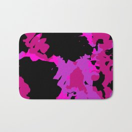 Fuchsia and black abstract Bath Mat