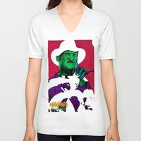 freddy krueger V-neck T-shirts featuring KRUEGER by UNDEAD MISTER / MRCLV