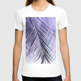Palm Leaves On A Violet Background #decor #society6 #buyart T-shirt