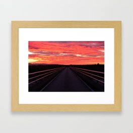 Haast Sunset Framed Art Print