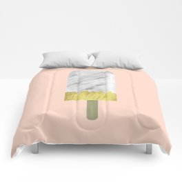 Carrara Italian Marble with Gold Popsicle Comforters