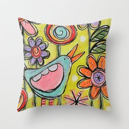 Tiny Garden Series #12 Throw Pillow