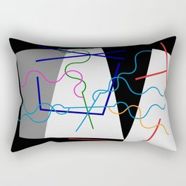 Sophie Taeuber-Arp - Line, whips 1942 - Digital Remastered Edition Rectangular Pillow
