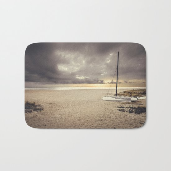 Dramatic sunrise on the beach Bath Mat