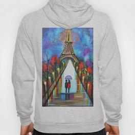 Love In Paris Romantic Painting Valentine Giftart Hoody