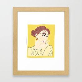 Knock Knock! Nayeon Yellow Framed Art Print