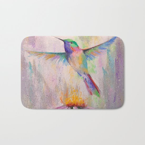 Flying Hummingbird Bath Mat