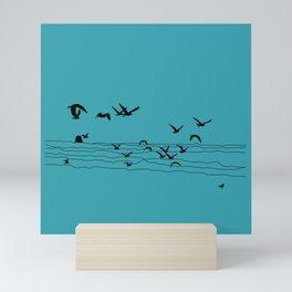 Seagull Beach by Seasons K Designs Mini Art Print