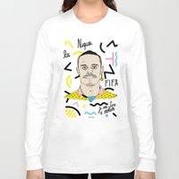 brasil Long Sleeve T-shirts featuring FIFA - BRASIL  by 13pulsions
