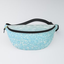 Mermaid Sea Foam Ocean Ombre Glitter Fanny Pack
