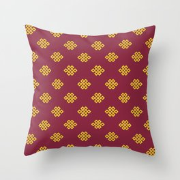 Eternity knot, endless knot pattern Throw Pillow