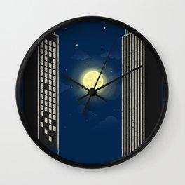 Moon Ping Pong Wall Clock