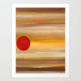Acrylic Abstract Painting Sunny Day Art Print