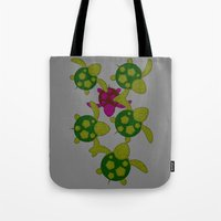 turtles Tote Bags featuring Turtles  by MillennialBrake