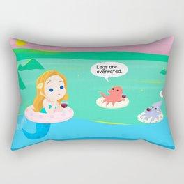 mermaid talk Rectangular Pillow