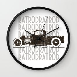 Rat Rod Hot Rod Vintage Wall Clock