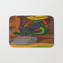 The Cajun Gator (Flat Color Version) by: Henry Wardsworth aka Concepts_By_Henry Bath Mat