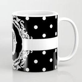 Black Monogram: Letter D Coffee Mug