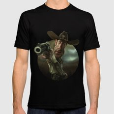 Rick Grimes from 'The Walking Dead'. Black MEDIUM Mens Fitted Tee