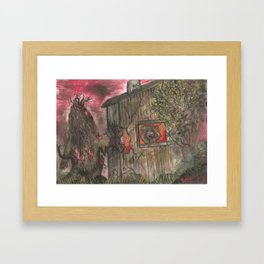 Evil Intrusion Framed Art Print
