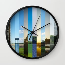 drive by landscape Wall Clock