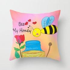 Bee My Honey Throw Pillow
