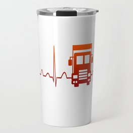 TRUCK DRIVER HEARTBEAT Travel Mug