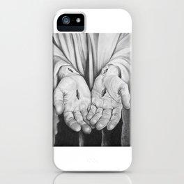 Jesus Hands iPhone Case