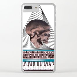 Skull Synthesizer Clear iPhone Case