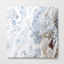 Earth Marble Metal Print