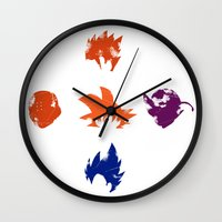 foo fighters Wall Clocks featuring Z Fighters by luvusagi