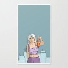 She's got fish! Canvas Print
